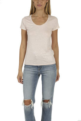 Majestic Filatures Metallic Scoop Neck Tee