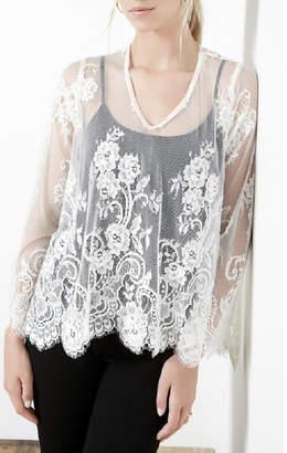 Karen Kane Floral Lace Top