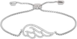 Diamonique Angel Wing Adjustable Bracelet, 14K Gold Clad