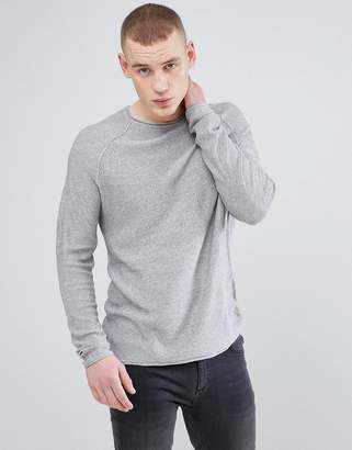 New Look Knitted Sweater In Gray