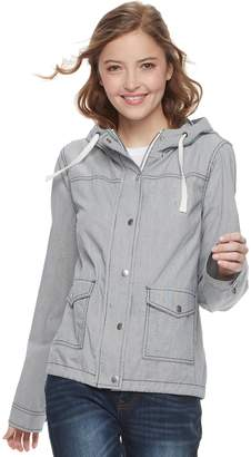 So Juniors' SO Hooded Utility Jacket