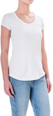 Cynthia Rowley Cotton-Modal T-Shirt - Scoop Neck, Short Sleeve (For Women) $9.99 thestylecure.com