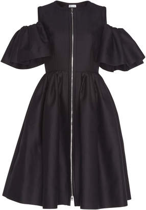 Dice Kayek Zipper Knee Length Dress