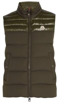 Moncler Deneb Quilted Down Gilet - Mens - Khaki