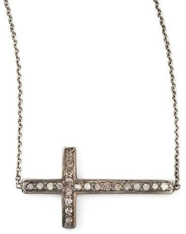 Chicco Zoe Pave Diamond Cross Necklace