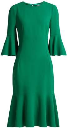 Dolce & Gabbana Fluted-hem cady midi-dress