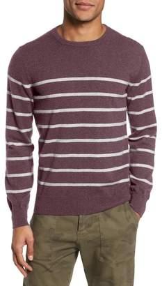 Eleventy Cashmere Crewneck Striped Sweater