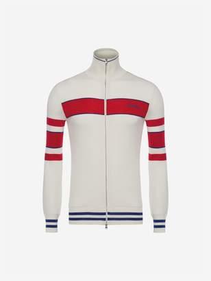 Alexander McQueen Stripe Sports Cardigan