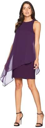 Tahari ASL Chiffon Overlay Sheath Dress Women's Dress