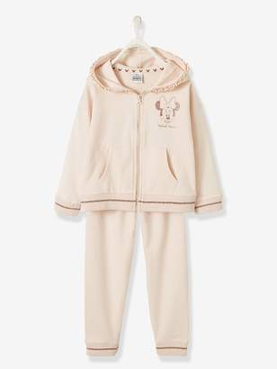 Vertbaudet Minnie Jacket with Zip + Fleece Trouser Outfit