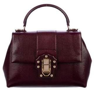 Dolce & Gabbana Embossed Lucia Satchel