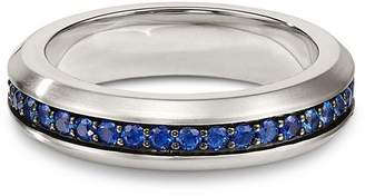 David Yurman Streamline Band Ring with Sapphires