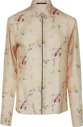 Haider Ackermann Floral-Print Long Sleeve Shirt