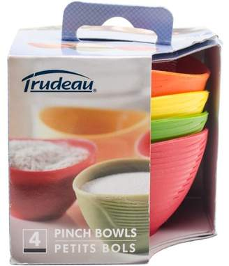 Trudeau Maison Silicone Pinch Grip Bowls Set Of 4-Red, Green, Yellow & Orange