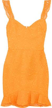 Rebecca Vallance Baha Ruffled Lace Mini Dress - Saffron