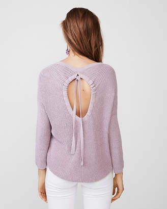 Express Petite Open Back Pullover