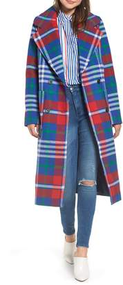Tommy Jeans Long Plaid Coat