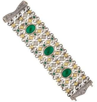 Konstantino Green Onyx Wide Bracelet