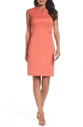 Women's Tahari Jacquard Sheath Dress $128 thestylecure.com