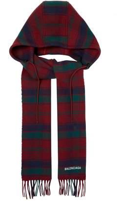 Balenciaga Hooded wool scarf