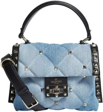 Valentino Mini Denim Candystud Top Handle Bag