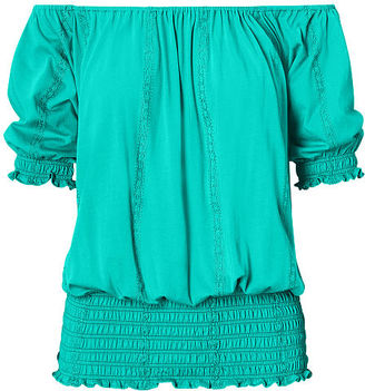 Ralph Lauren Smocked Off-the-Shoulder Top $79.50 thestylecure.com
