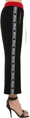 Miu Miu Cotton Sweatpants W/ Logo Side Bands