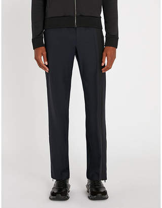 Valentino Side-stripe regular-fit straight cotton trousers