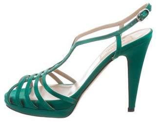 Valentino Strass Embellished Platform Sandals