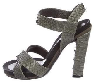Chloé Python Crossover Sandals