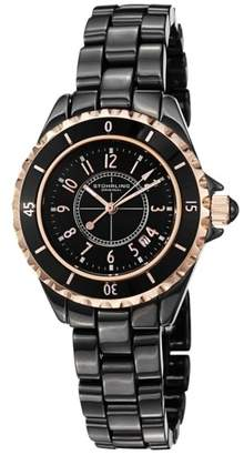 Stuhrling Original 530.114OB1 Black Ceramic 34mm Watch