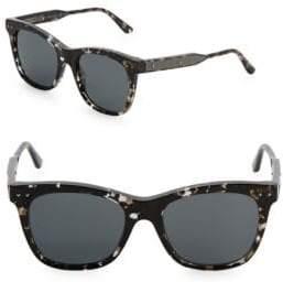 Bottega Veneta 53MM Tortoiseshell Square Sunglasses
