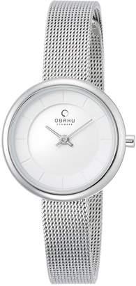 Obaku Denmark Harmony Women's Quartz Watch 28-V133STBRB with Leather Strap
