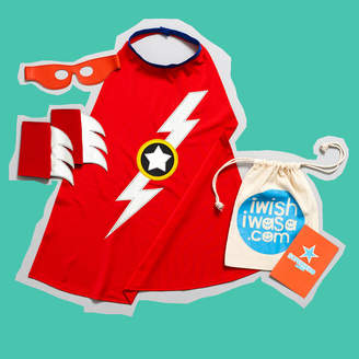 iwishiwasa Superhero 'Lightening Bolt' Costume Gift Set