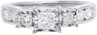 MODERN BRIDE Love Lives Forever Womens 1 CT. T.W. White Diamond 10K Gold 3-Stone Ring