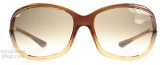 Tom Ford Women's Gradient Jennifer FT0008-50F-61 Oval Sunglasses