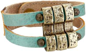 Leather Rock B657 Bracelet