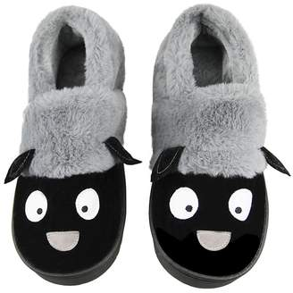 257672218 Greenery Couple Home Indoor Slippers, Mens Sheep Cartoon Animal Soft Cozy  Cotton Faux Fur Warm