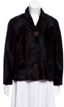 Marni Ponyhair Pointed Collar Jacket