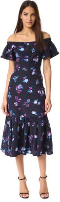 Rebecca Taylor Off Shoulder Bell Flower Dress $495 thestylecure.com