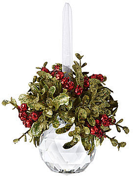 JCPenney Kissing Krystals Mini Mistletoe Christmas Tree Ornament - Facet