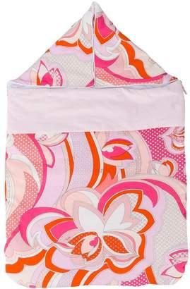 Emilio Pucci Junior printed sleeping bag