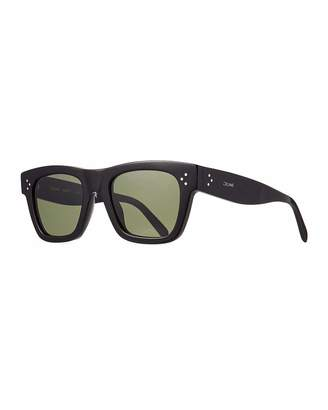 Men's Rectangular Acetate Sunglasses