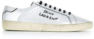 Saint Laurent sl/06 low-top sneakers silver