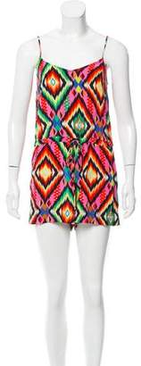 Twelfth Street By Cynthia Vincent Printed Silk Romper