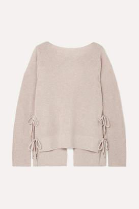 Altuzarra Templar Tie-back Ribbed Cashmere Sweater - Beige