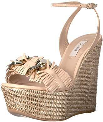 Casadei Women's Fringe Chain Wedge Sandal