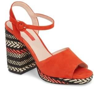 Topshop Laura Woven Block Heel Sandal