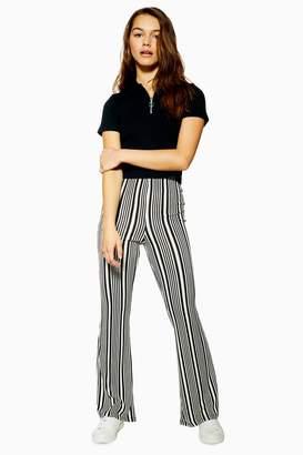 Topshop PETITE Stripe Flared Trousers