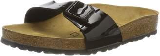 Birkenstock Women's Madrid 1-Strap Cork Footbed Sandal Black 38 M EU